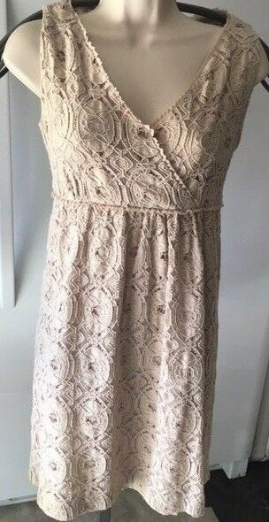 Jessica Howard WT Eyelet Dress with lining , Size 12P, Cream in color