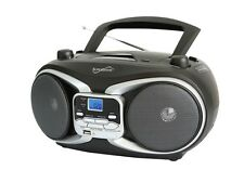 SUPERSONIC SC-504 Portable Audio MP3/CD Player w/ USB/AUX Inputs & AM/FM Radio