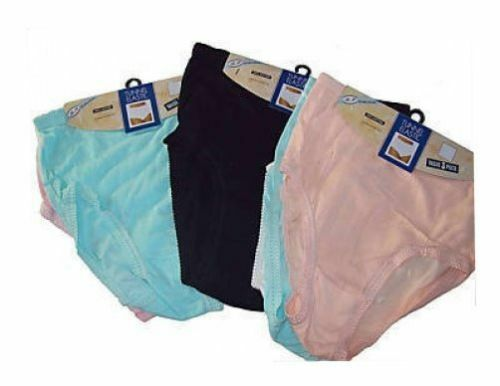 3 Paires Mesdames 100% Coton Tunnel élastique Culotte Pantalon Taille Wms à 6xos Nickers