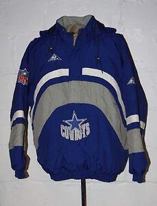 9571ac5b3 VTG Apex One Proline Dallas Cowboys Pullover Hooded Coat Jacket Sz ...