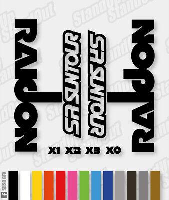 Fluorescent Colours SR SUNTOUR RAIDON Style Replacement Decals Custom