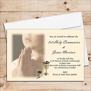 Image is loading 10-Personalised-Girls-Boys-1st-First-Holy-Communion-