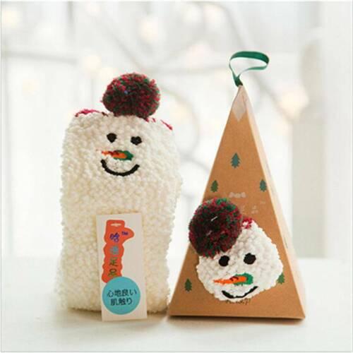 Kids Soft Fluffy Winter Warmer Bed Sock Gentle Grip Lounge Slipper Floor Sock RE