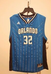 NWT Adidas NBA Orlando Magic Shaquille O Neal  32 Throwback Blue ... 7440e3580
