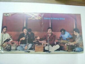 MANHAR PANKAJ UDHAS LIVE 2 LP 1981 RARE LP RECORD vinyl india hindi GHAZAL VG+