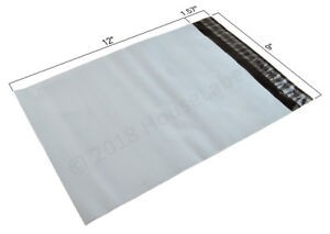 1-2000-9X12-Poly-Mailers-Bags-2-35-mil-thick-White-Shipping-Envelopes