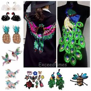 Embroidery-Sequin-Sew-Iron-On-Patch-Badge-Bag-Clothes-Dress-Fabric-Applique-DIY