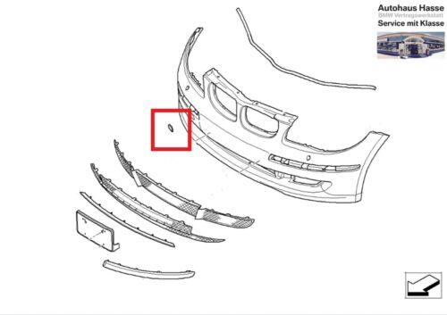 Original BMW Klappe Abschleppöse grundiert vorne  1er E81 E87 LCI  51117201202