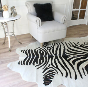 Details About Zebra Cowhide Rug Rugs Online High Quality From Brazil