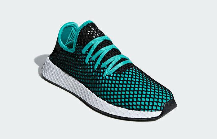 Adidas deerupt runner aqua nero b41775 uomini scarpe nuove dimensioni 10,5 | The King Of Quantità  | Scolaro/Ragazze Scarpa