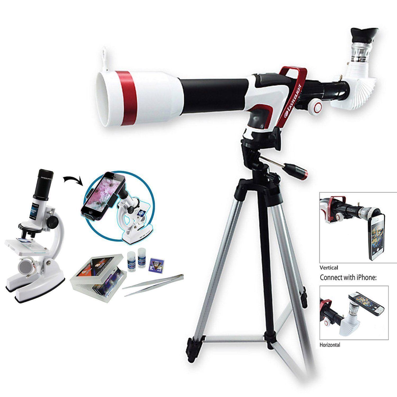 Deluxe 375 Power HD Sport Telescope & Microscope Set w  Smart Phone Adapter