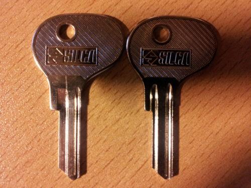 2 Schlüsselrohlinge Schlüssel Porsche 1963-1966