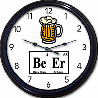 Beer Chemistry Wall Clock Mug Ale Brew Elements Periodic Table Breaking Bad 10