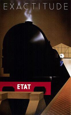 "4057 Exactitude /""ETAT/"" Railroad POSTER Transportation Art Decorative."