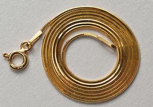 Kette-Vergoldet-24K-Gold-45cm-Ketten-Snake-Silber-925-platiniert-24-K-Gold