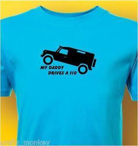 Kids-034-Defender-110-034-Land-Rover-T-Shirt