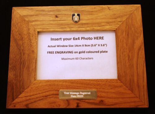 Kings Own Scottish Borderers Oak Photo Frame FREE ENGRAVING Scottish Gift BGK28