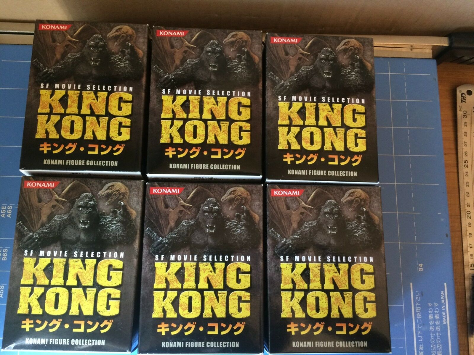 Konami,SF Movie Selection,KING KONG,All 6 Figures Complete Set