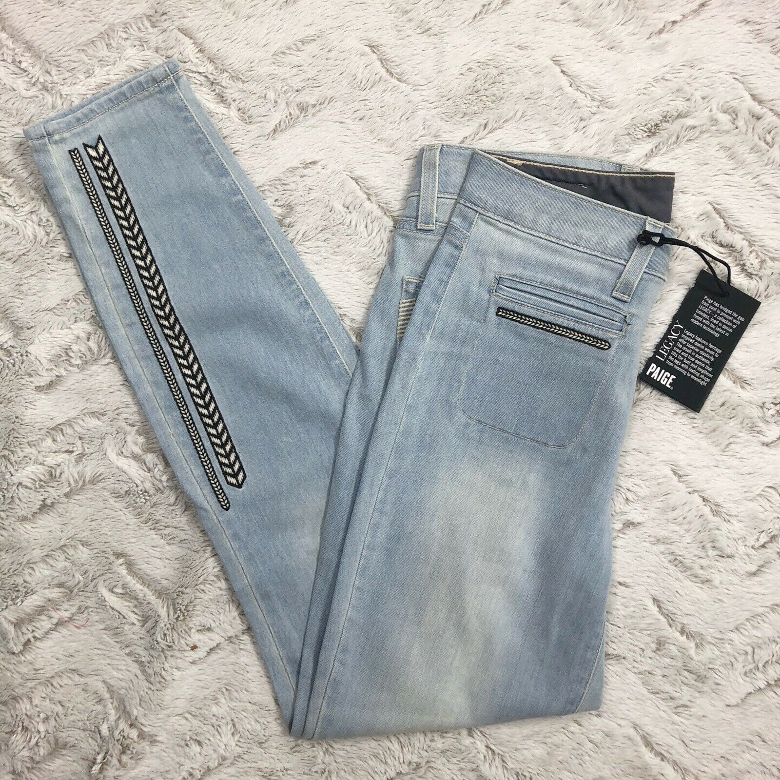 Paige Womens Jeans Size 27 Vintage Hoxton Ankle Baylee Embroidered New Nwt