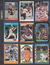 GLENN DAVIS ~ Lot of (9) Different Baseball Cards w/ Display Sheet (L559)