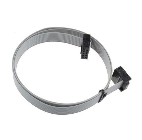 10x 70CM 2.54mm 10 Pin USB ASP ISP JTAG AVR wire 10P IDC Flat Ribbon DATA Cable