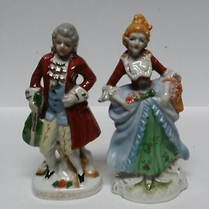Vintage Porcelain Victorian Couple Figurines Made In Occupied Japan Ebay