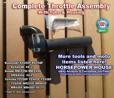 MX THROTTLE TUBE /& HOUSING COMPLETE @ SUZUKI RM125 RM250 2-STROKE 92-08 MORE AVA