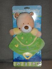 KIDS PREFERRED SWEET DREAMS TEDDY BEAR SECURITY BLANKET LOVEY YELLOW GREEN NEW
