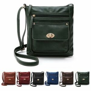 New-Women-Leather-Messenger-Cross-Body-Handbag-Ladies-Satchel-Shoulder-Bag-Purse