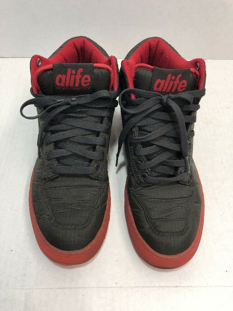 97fc55e8c9a2 ALIFE Everybody Mid Parachute - Nylon Black Red Black Red Black Red size