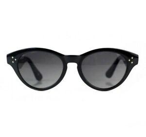 NOS 90s Cat eye vintage sunglasses shades black glossy womens OG DS deadstock