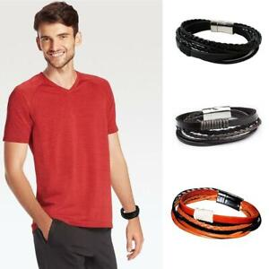 Hand-Woven-Wrap-Multilayer-Leather-Braided-Rope-Wristband-Men-Magnetic-Buckle