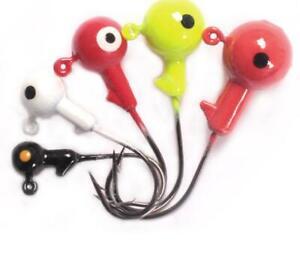 50pcs-Fishing-Singe-Jig-Hooks-Lead-Head-Soft-Worm-Fishing-Tackle-Hook-New