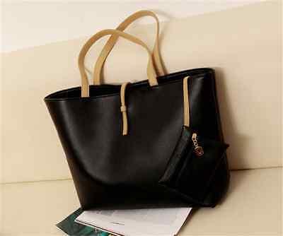 Women's Classic Shoulder Bag Ladies Fashion Tote Bag PU Leather Handbag Purse