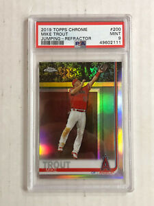 MIKE TROUT 2019 Topps Chrome JUMPING SP REFRACTOR #200! PSA MINT 9! HUGE SALE!