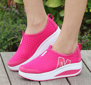 Womens Summer Mesh Sport Sneaker Breathable Flat Platform Athletic College Shoes