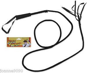 Adult-Black-Long-Bull-Cowboy-Jones-Ringmaster-Whip-Fancy-Dress-Costume-Accessory