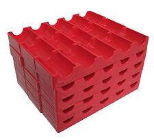 15 Token Racks Poker Chips Red Trays Racks Holds Slot Tokens FREE SHIPPING *
