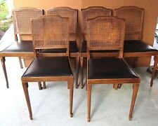 Leg-O-Matic Vintage 1972 Cane Back Set of 6 Retro Modern Folding Chairs