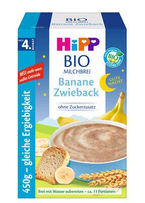 15,13 EUR//kg HiPP Bio Milchbrei Gute Nacht Banane Zwieback 450 g ab 4 Monat