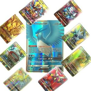 100Pcs-Lot-Pokemon-Game-Cards-TCG-80EX-20mega-Card-Booster-Game-Art-Toy-2019