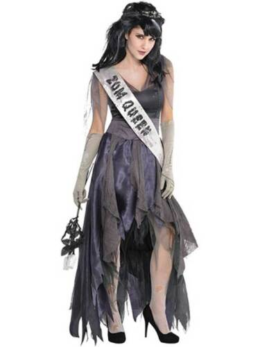 Spaventoso Halloween Costume Zombie Cadavere Reginetta del Ballo UK 8-20