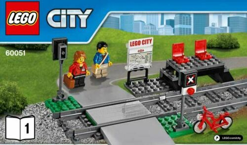 LEGO City Train Station Split Platform Level Crossing, New from 60051 -*NEW*