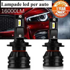 Lampade led H7 per fari auto moto camion 16000 lumen serie m2