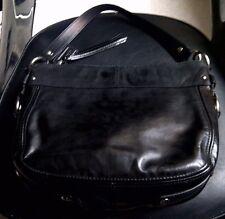 Authentic Coach Zoe Patent Leather Handbag Hobo Shoulder Bag Purse F15478 Black