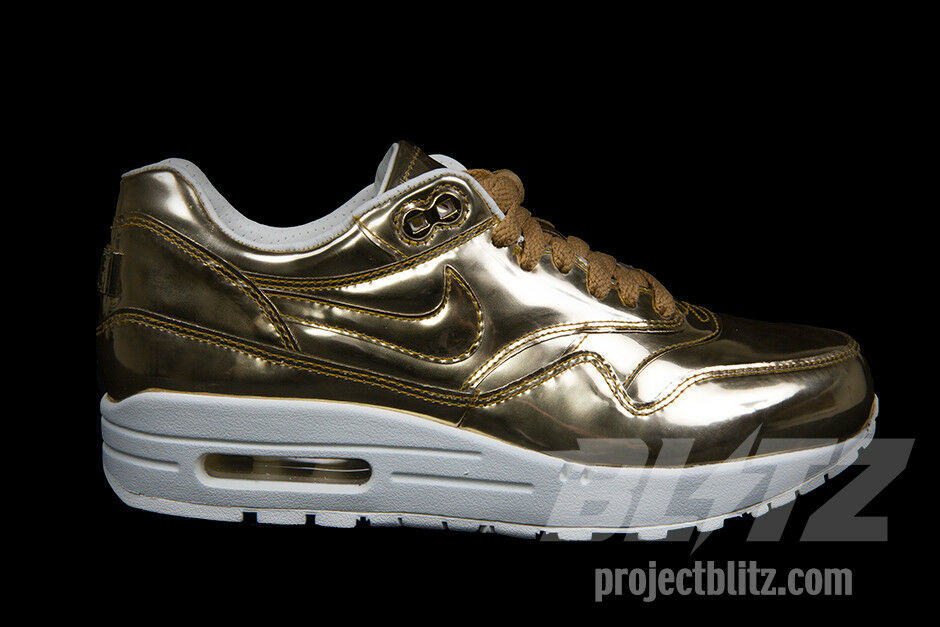 WOMENS NIKE AIR MAX 1 Sz SP LIQUID METAL Sz 1 7-10.5 METALLIC GOLD SAIL 616170-700 3d9c31