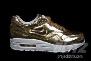 Details about WOMENS NIKE AIR MAX 1 SP LIQUID METAL Sz 7 10.5 METALLIC GOLD SAIL 616170 700
