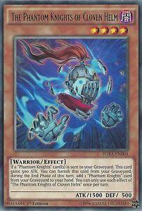 YU-GI-OH CARD RARE WIRA-EN004 1ST EDITION THE PHANTOM KNIGHTS OF CLOVEN HELM