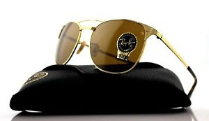 867c81eeaf Image is loading NEW-Authentic-Ray-Ban-SIGNET-Gold-Brown-Classic-