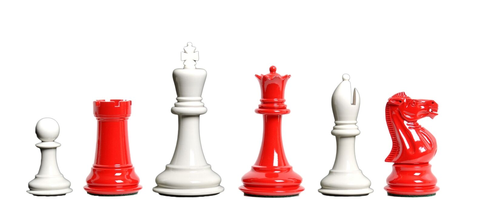 USCF Sales The Professional Professional Professional Chess Set - Pieces Only - 3.75  King - Red and White 074ff1